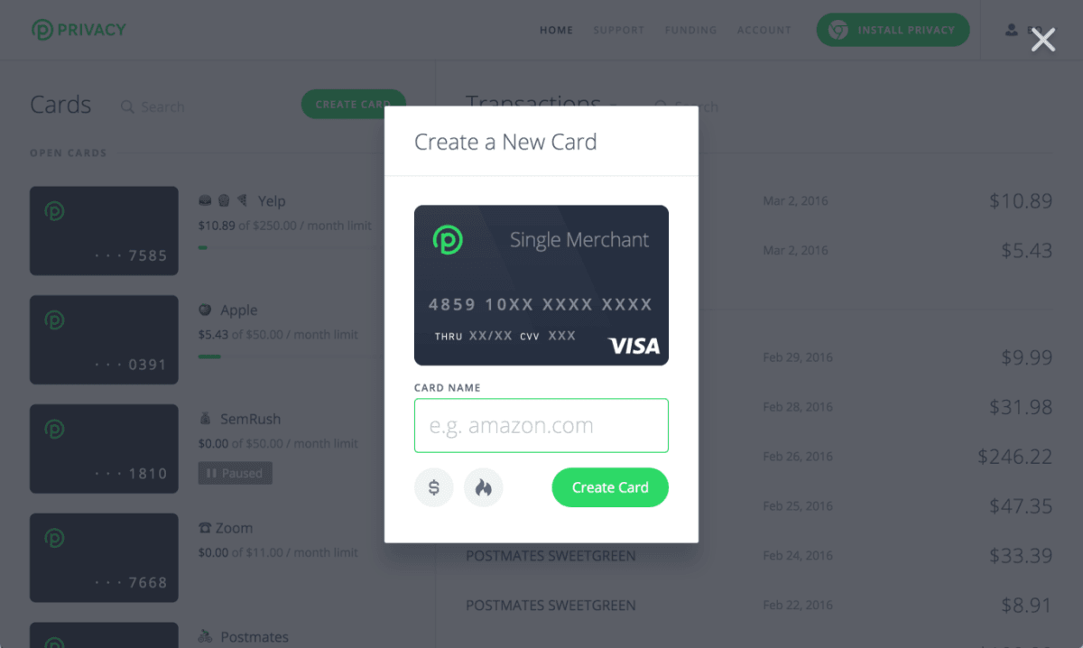 'privacy' Creates Singleuse Virtual Credit Cards For Safer Online Shopping