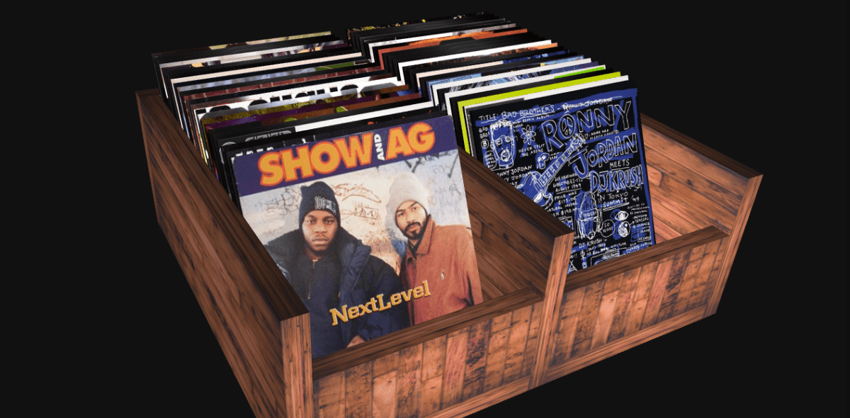 This site lets you dig through your favorite vinyl from the golden era of hip-hop