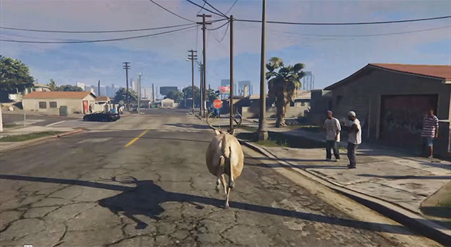 Someone is live streaming an AI-controlled deer running around in Grand Theft Auto