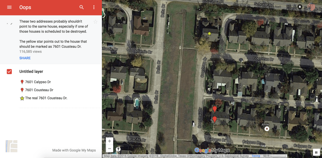 Demolition company says a Google Maps error led them to tear down the wrong house