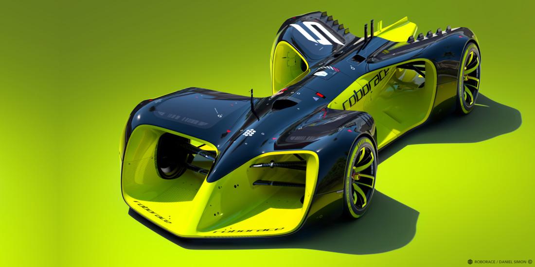 Robotic racing league unveils AI car developed by 'Tron: Legacy' designer