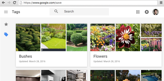 Google's saved image searches are now available on desktop
