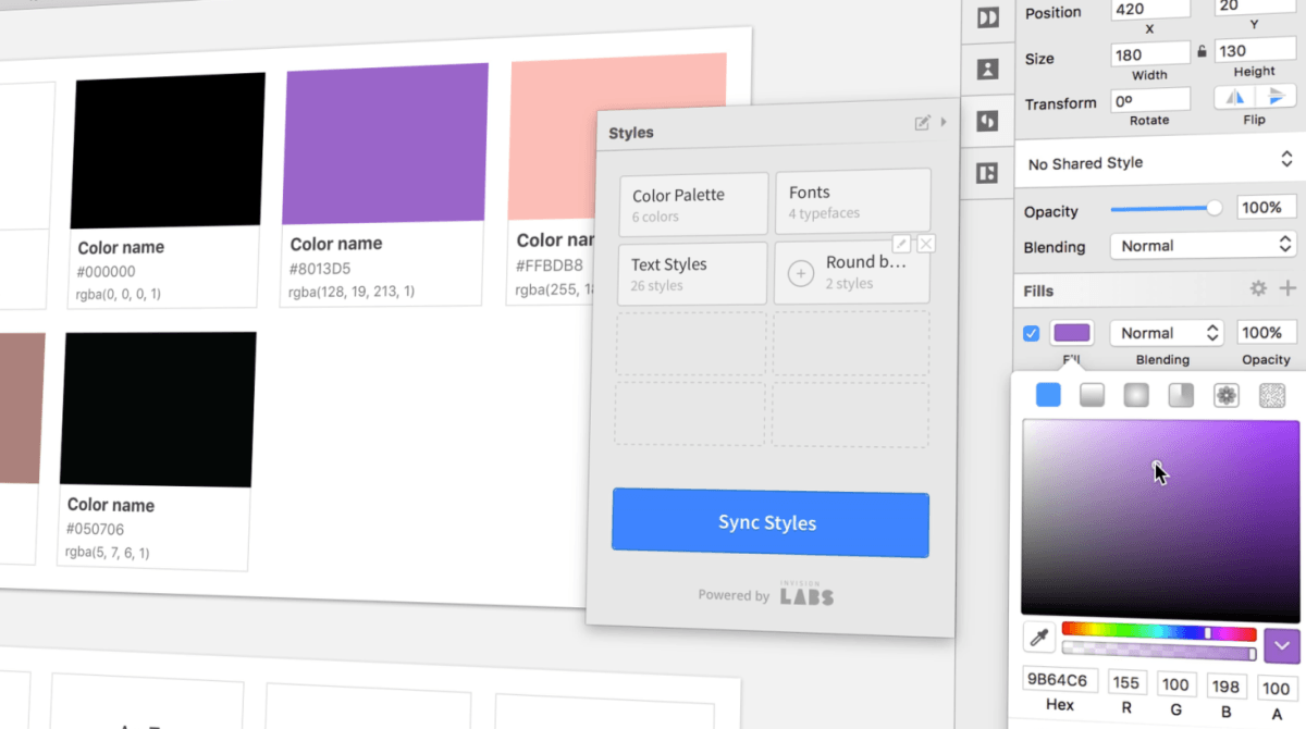 Styles for Sketch allows designers to make macro changes to artboards in seconds