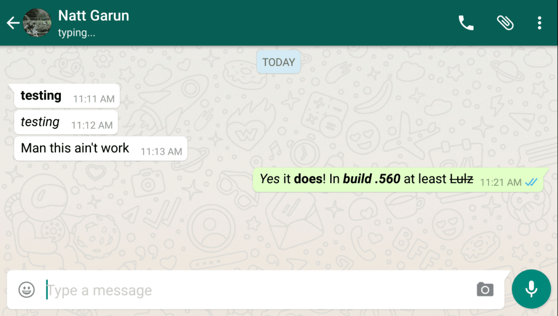 WhatsApp beta adds Quick Reply and font stylizations, moms everywhere rejoice
