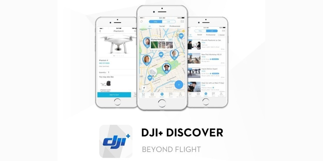 DJI's new app helps drone pilots meet up — and even tells them where to go flying