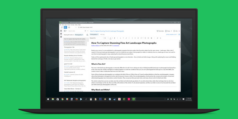 Evernote's Windows app gets a much-needed makeover
