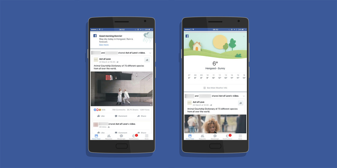 Facebook is testing weather alerts in its mobile apps