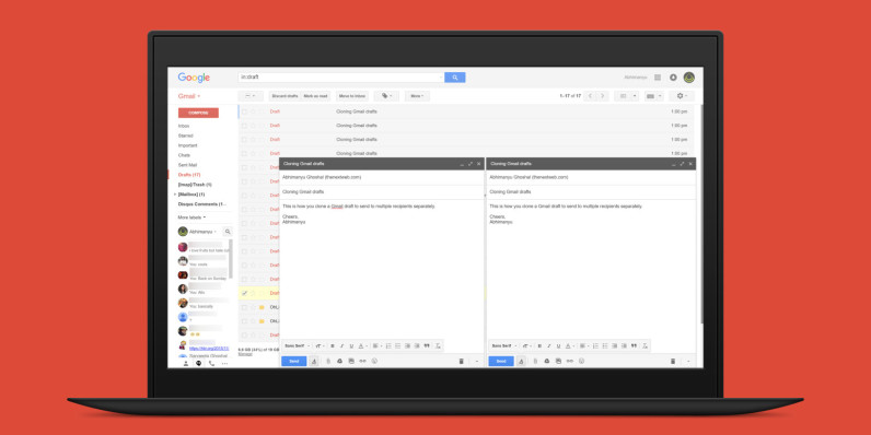 Save time personalizing emails with this draft cloning tool for Gmail