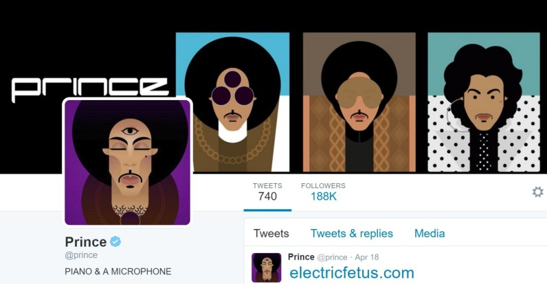 Prince's Twitter icon has become an instant tribute to the late artist