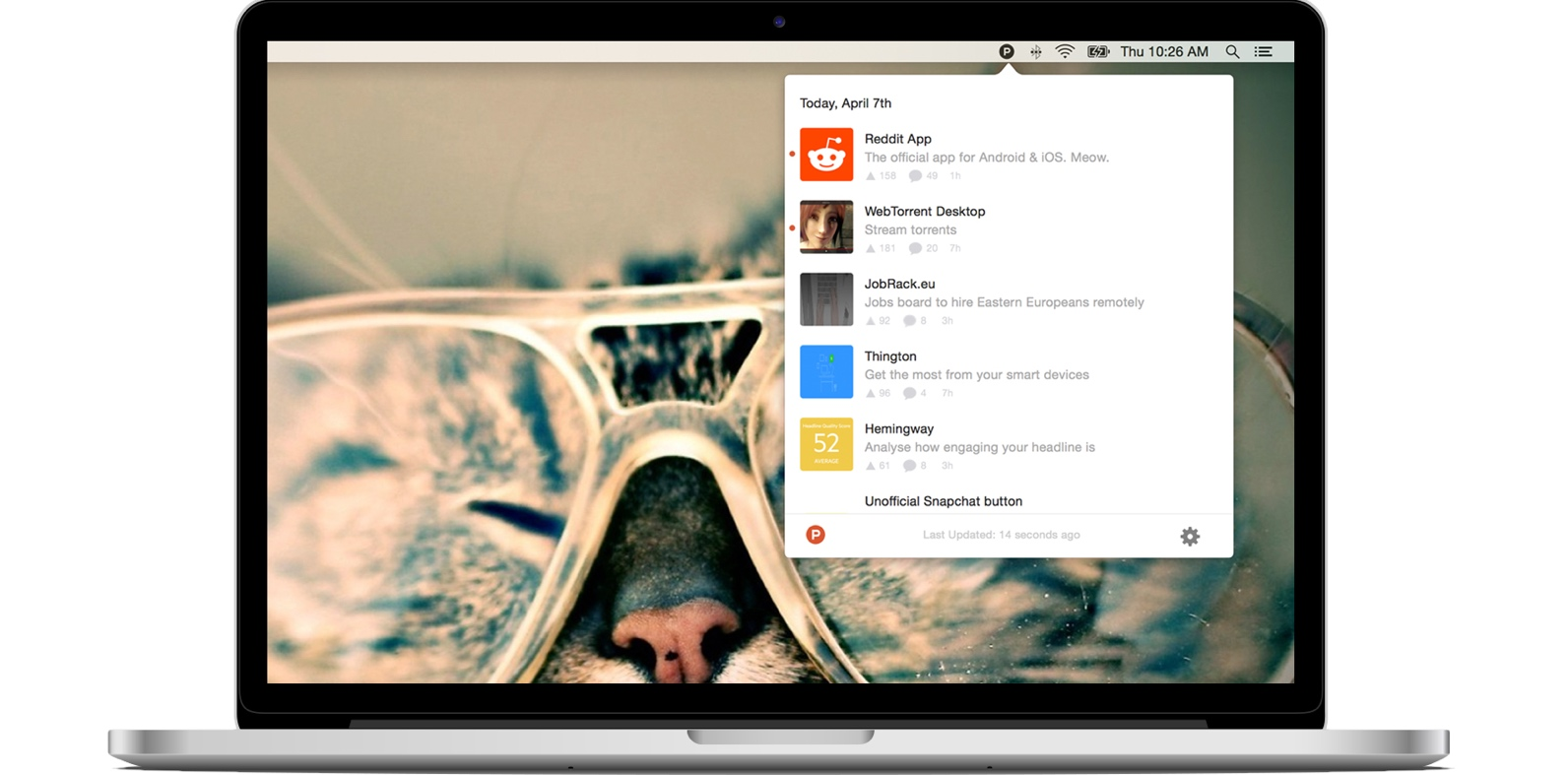 Product Hunt's new Mac app is ready to invade your status bar