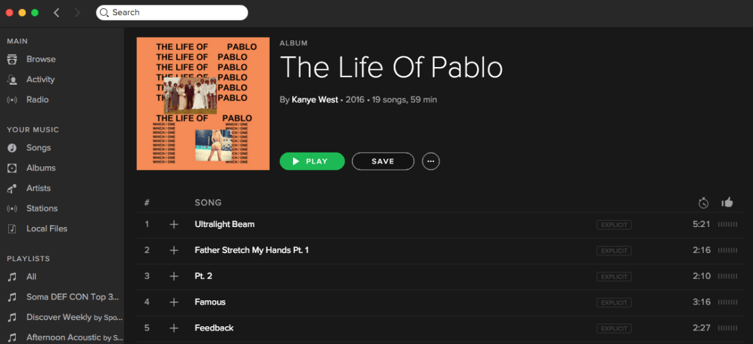 Never say never, Kanye — 'The Life of Pablo' is now available on Apple Music and Spotify ...