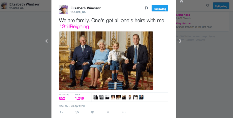 You can get paid £50,000 to run The Queen's social media