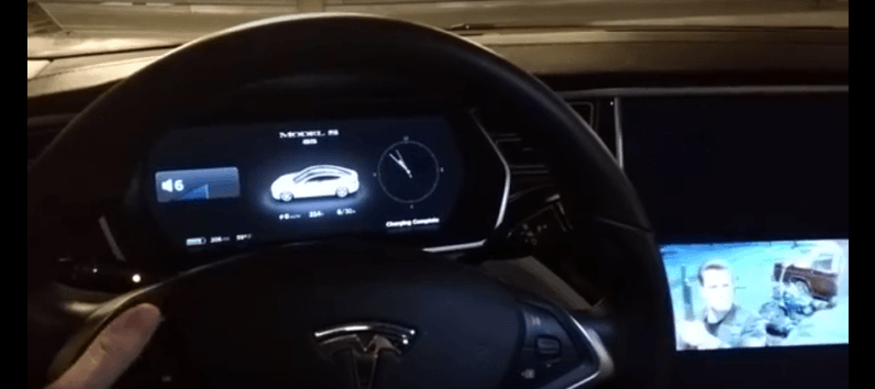 This neat (but dangerous) Tesla hack lets you play movies on center display