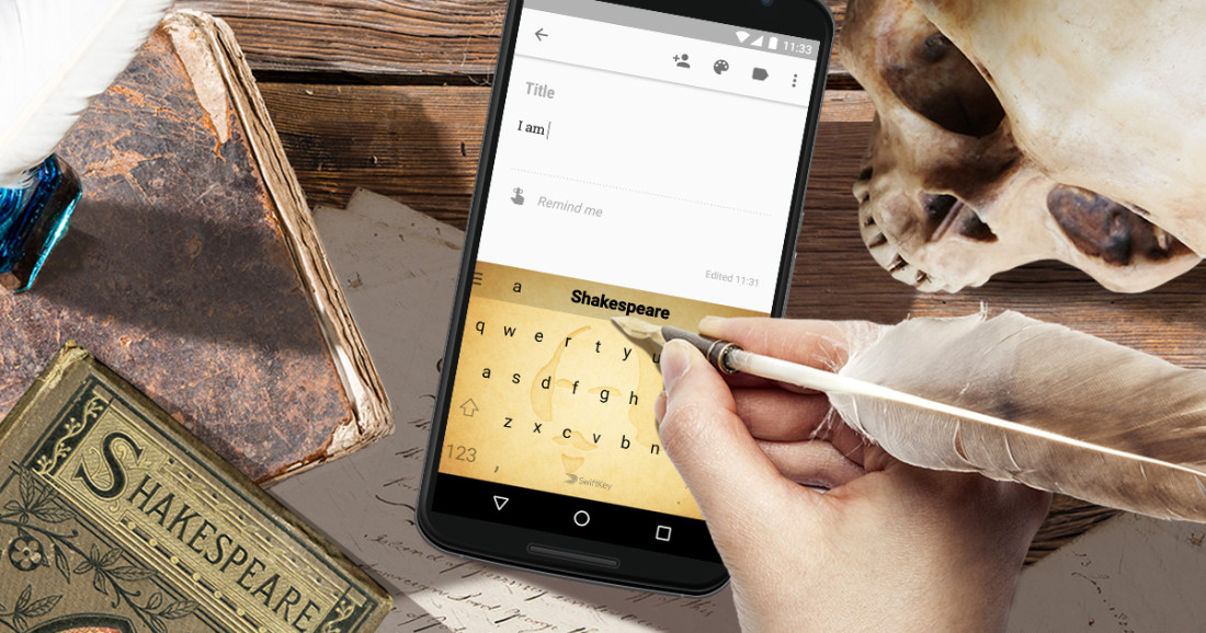 SwiftKey's new keyboard will help you text like Shakespeare