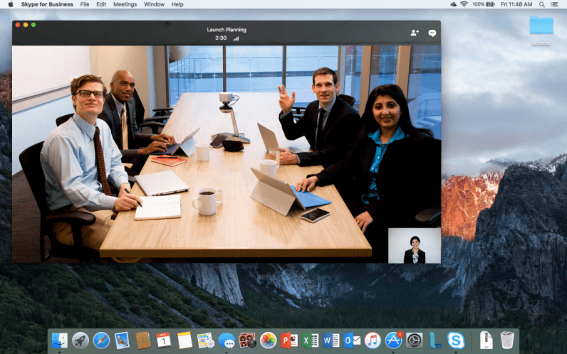 Microsoft brings Skype for Business to the Mac