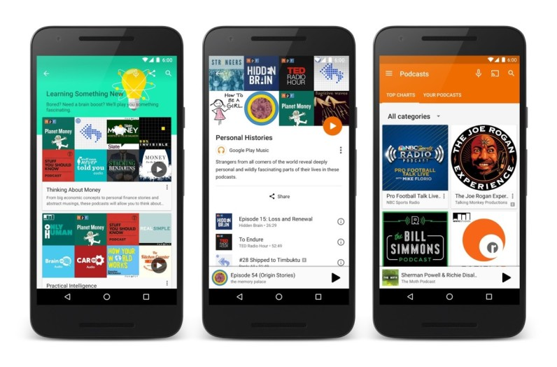 Google Play Music officially has podcasts for the Web and Android