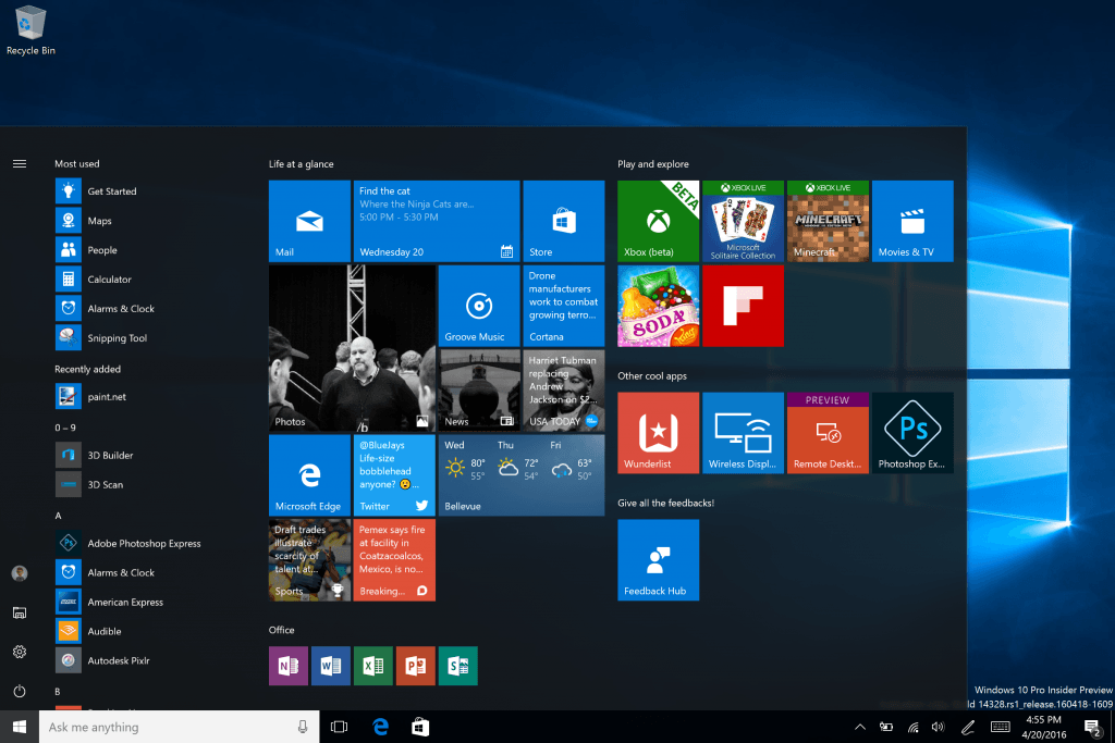 Windows 10 build 14382 brings Windows Ink and so much more