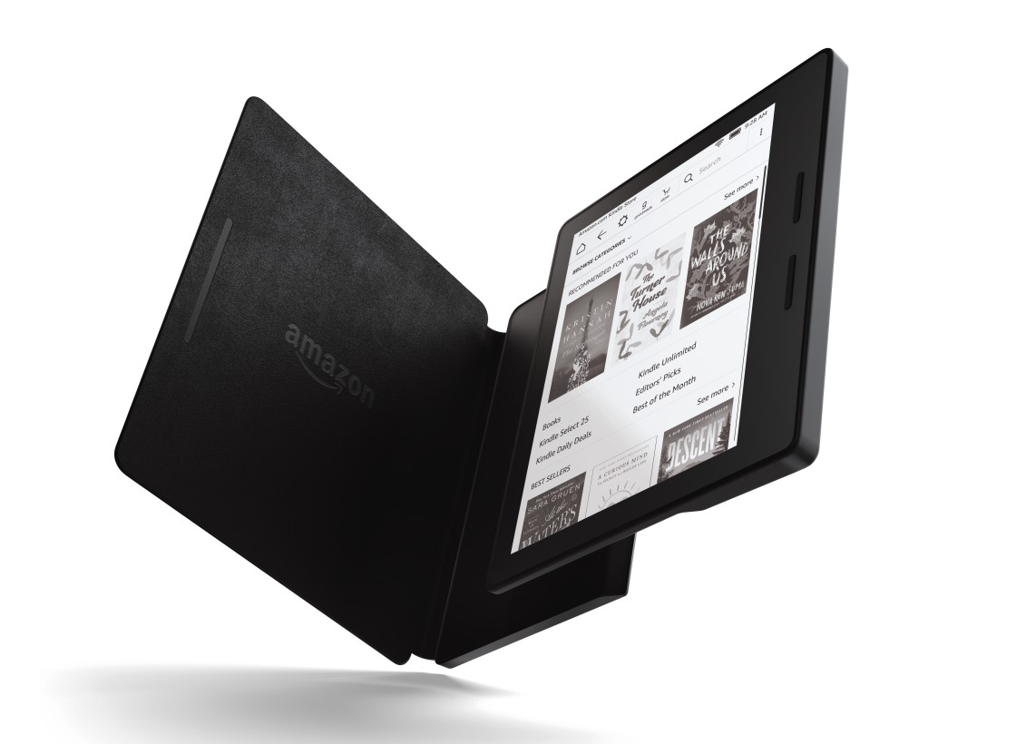 Amazon's $289 crazy thin Kindle Oasis has a battery cover