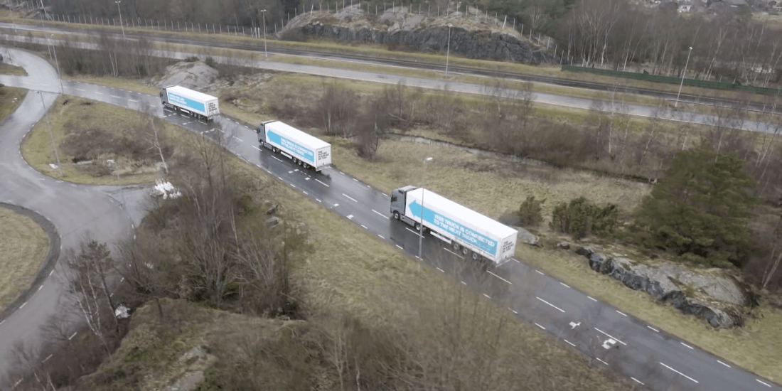 A fleet of self-driving trucks just spent a week cruising through Europe