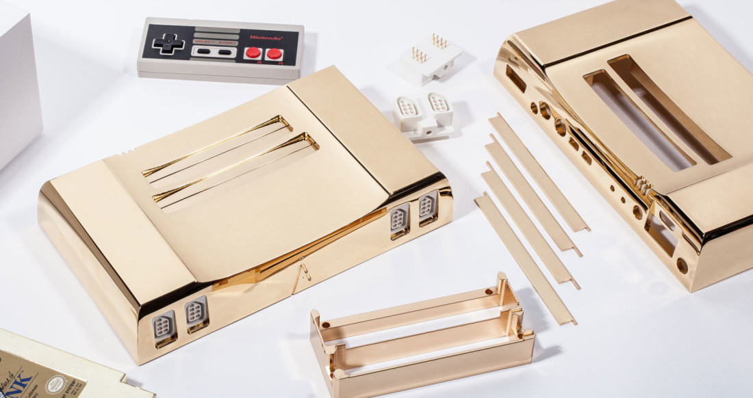 Sure, this $5,000 24-karat gold NES seems totally reasonable