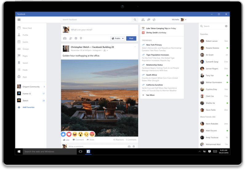 Facebook, Messenger and Instagram are getting full-featured Windows 10 apps at last