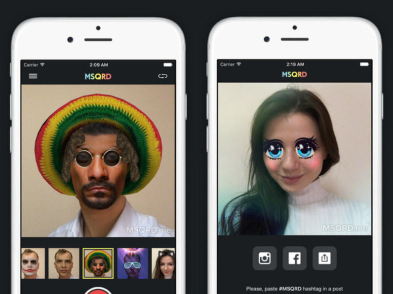 Post-Snapchat, MSQRD's Bob Marley filter is conveniently left out