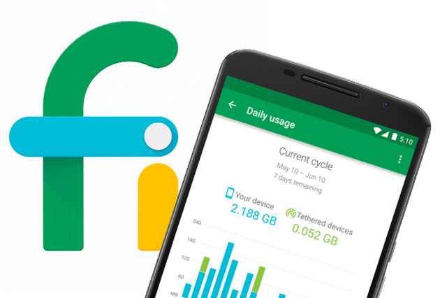 Google's Project Fi app update brings a data usage widget to help you avoid overages