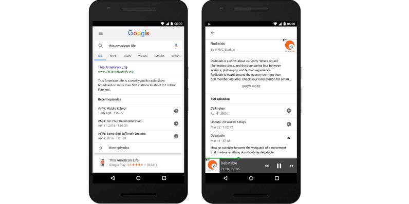Google's Search app now lets you play podcasts directly from results on Android