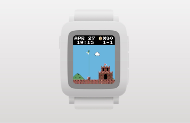 Step-counting app for Pebble smartwatch drops you into a game of 'Super Mario Bros.'