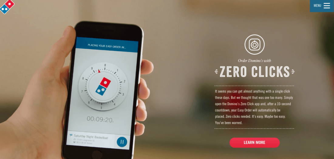 Domino's Zero Click pizza ordering app is a butt dialer's nightmare