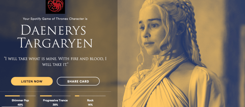 Find your 'Game of Thrones' kindred spirit based on your Spotify music tastes