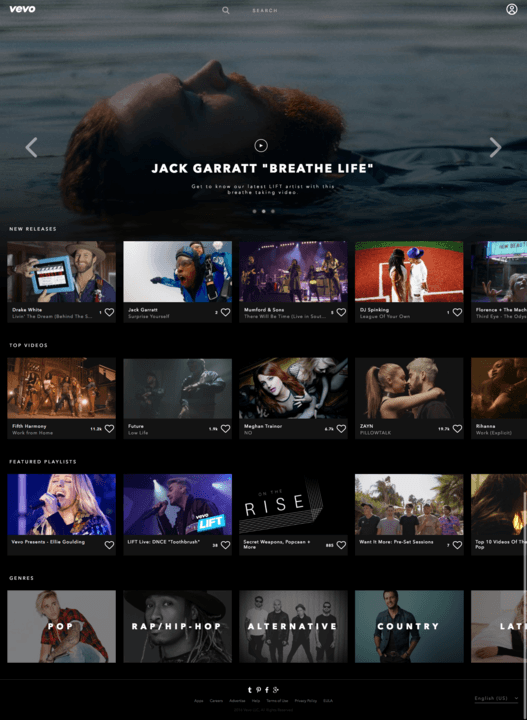 Vevo's Web redesign breathes new life into music videos
