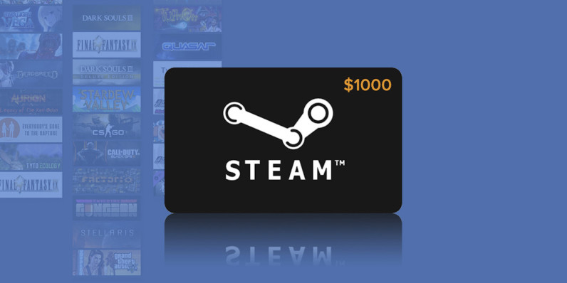 Enter the $1,000 Steam gift card giveaway