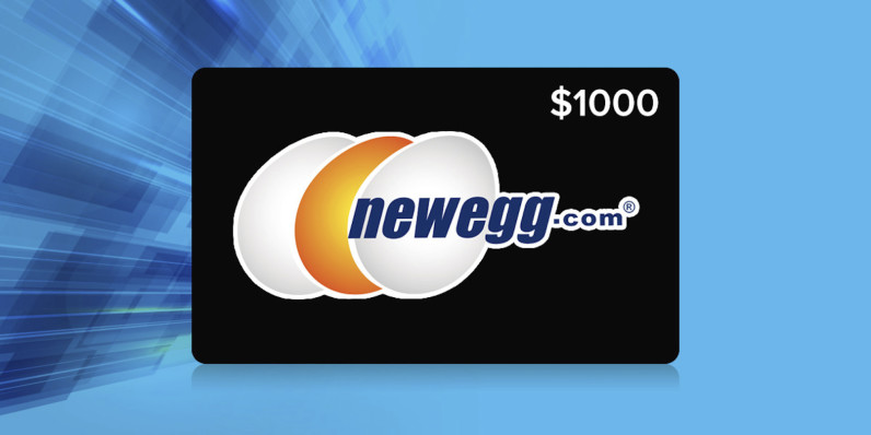 Enter the Newegg $1,000 gift card giveaway
