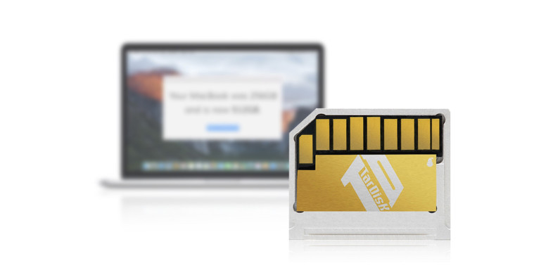 Add 64GB to your MacBook with TarDisk drive expansion