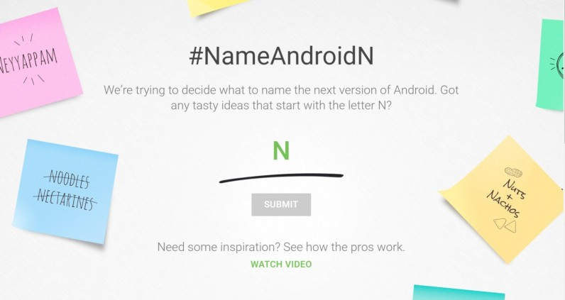 Google wants you to name the N in Android N