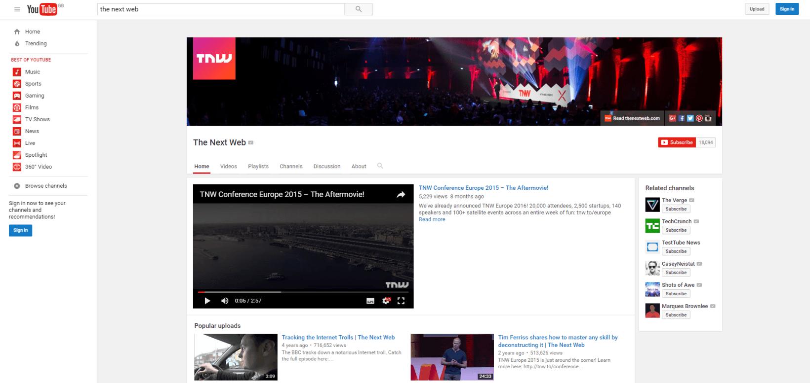 Imagini pentru old youtube design 2016