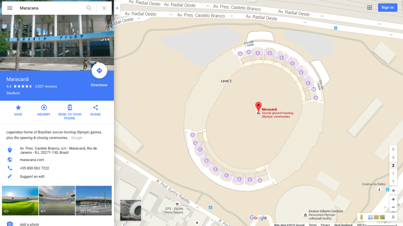 Google Maps adding 'enhanced features' for the 2016 Olympic games in Rio