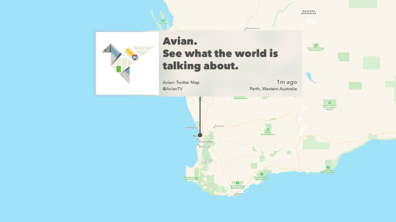 Avian for apple tv reimagines twitter as an interactive map avian for apple tv beautifully reimagines twitter as an interactive map gumiabroncs Images