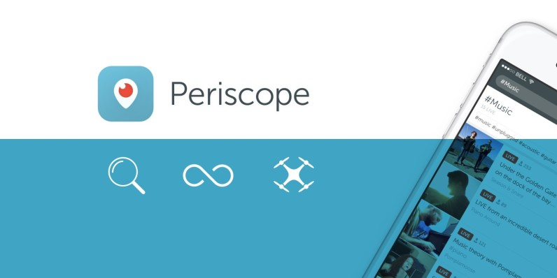 Periscope is adding search and save features along with the ability to stream from a drone
