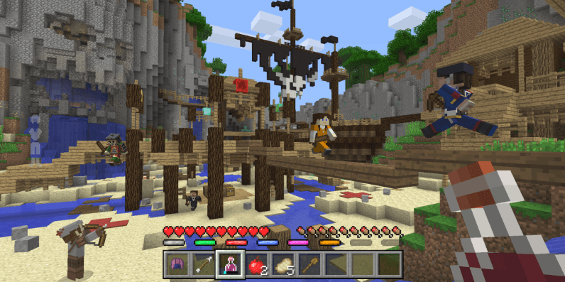 Minecraft's mini-games are finally coming to consoles next month