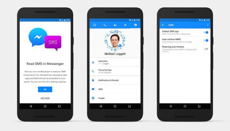 Facebook Messenger now sends SMS text messages, but only on Android