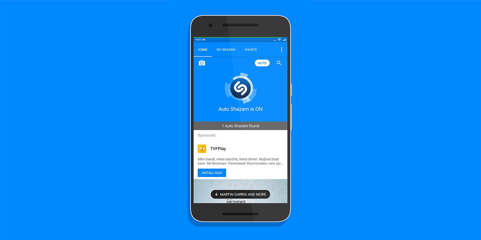 Shazam for Android now identifies songs automatically