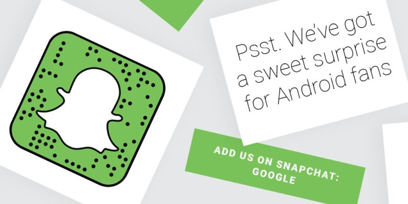 Google is revealing Android N's name today on Snapchat because it's 2016