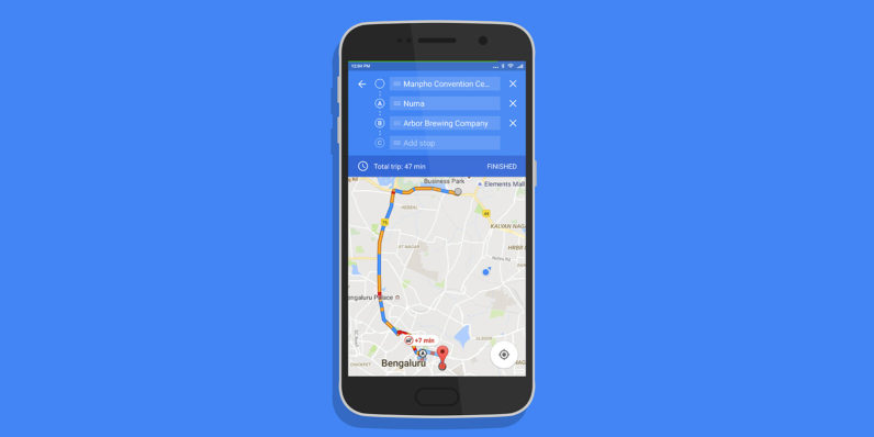 Google Maps for Android now lets you navigate to multiple destinations on a single trip