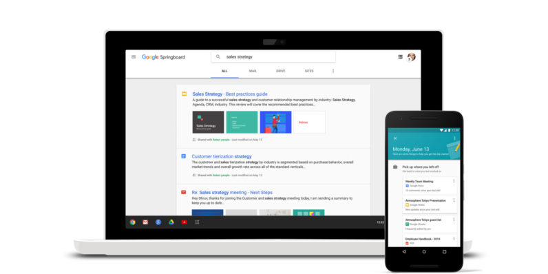 Google launches Springboard, its new Apps search tool for enterprise users