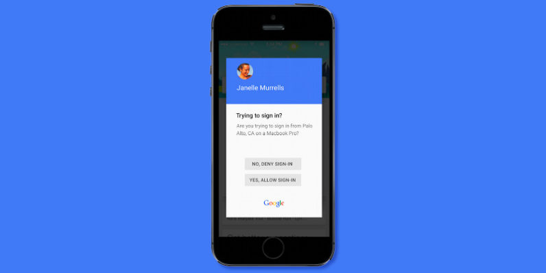 Google now lets you authorize logins to your account with a single tap
