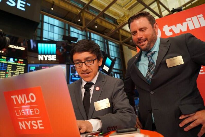 Twilio built 3 apps on the floor of the NYSE to celebrate its IPO