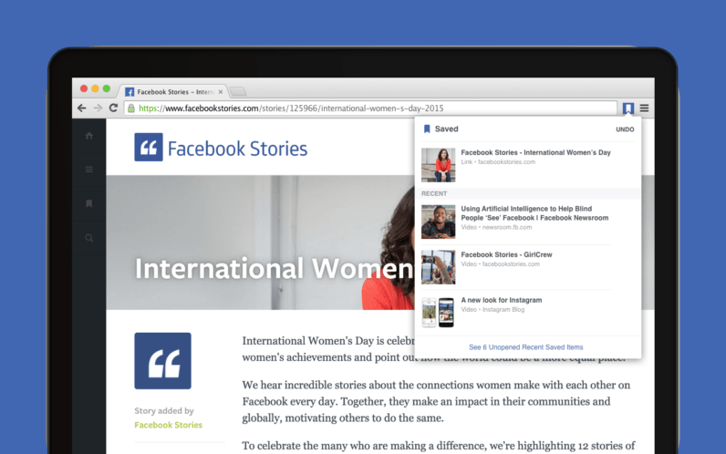 Facebook now has official Save and Share extensions for Chrome