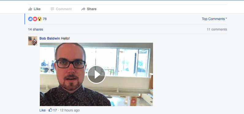 Forget typing: Facebook now lets you respond to posts with videos